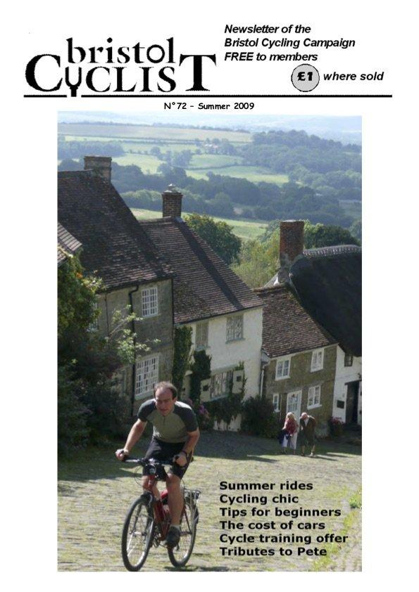 Bristol Cyclist magazine No.72 Summer 2009