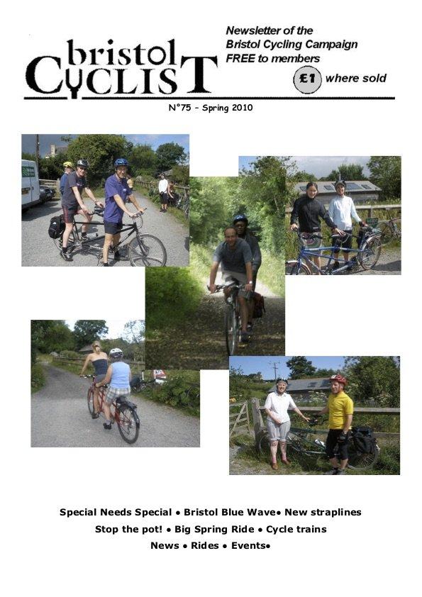 Bristol Cyclist magazine No.75 Spring 2010