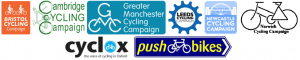 Campaign Logos for Cycle City Ambition Grant cities