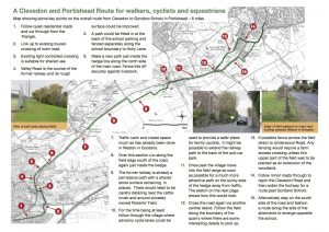 Gordano Greenway linking Clevedon and Portishead