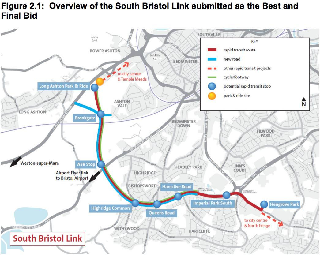 Ashton Vale changes due to Metrobus, Metrowest & South Bristol Link Road