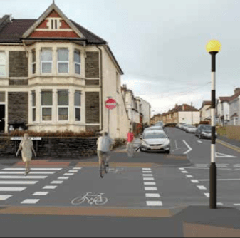 Southmead Quietway – Cairns Road & Wellington Hill West Crossings