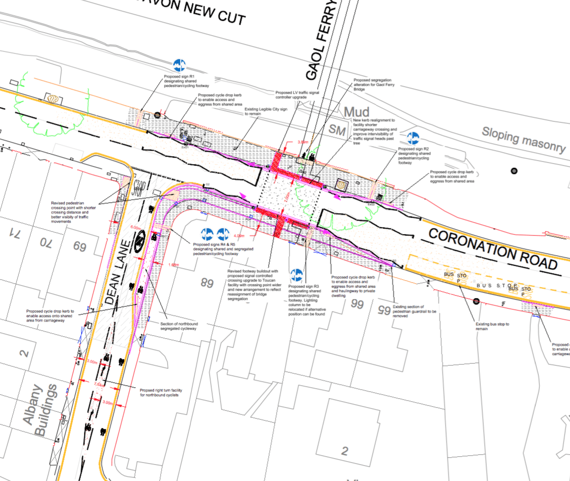 Proposals for Coronation Rd - Dean Lane crossing