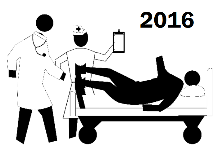Cycling hospital admissions in 2016