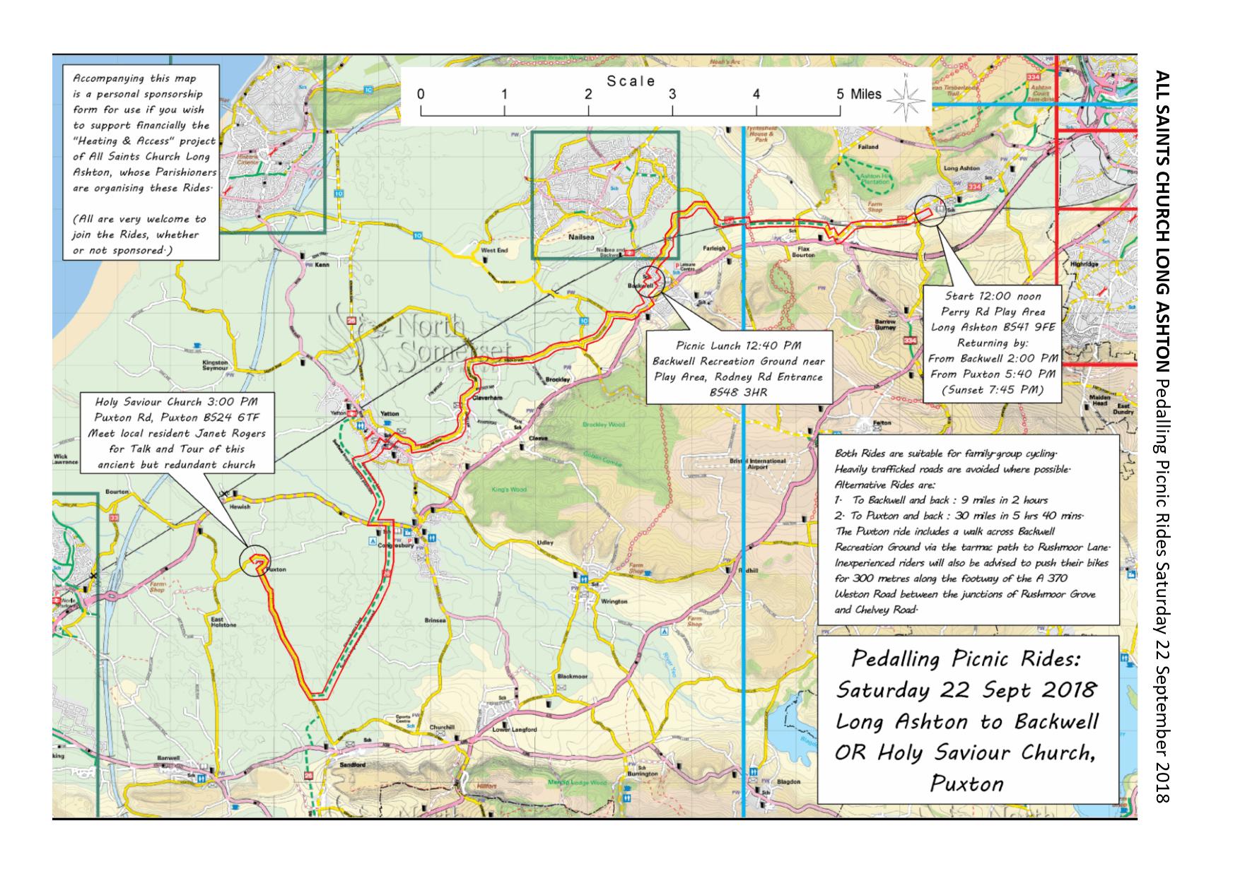 Puxton Park ride map - Saturday 22 September 2018