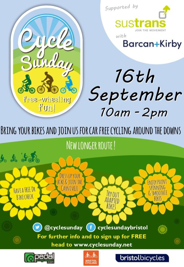 Cycle Sunday 2018 - 16 September