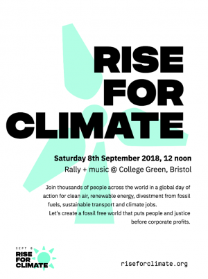 Rise For Climate Rally – Sat 8th Sept