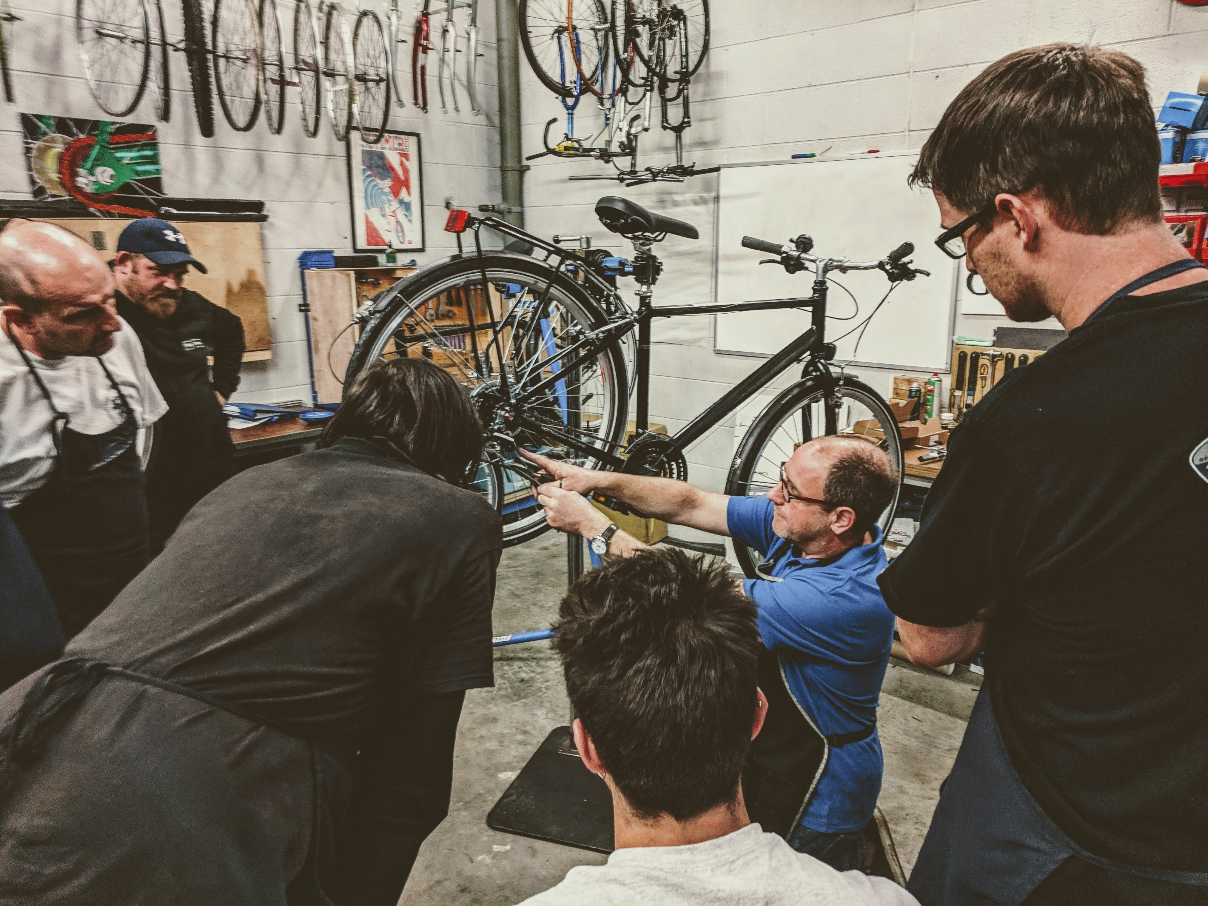 One-day cycle maintenance for 'Improvers', Saturday 2 March, Horfield