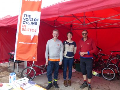 BCyC stall and campaigners