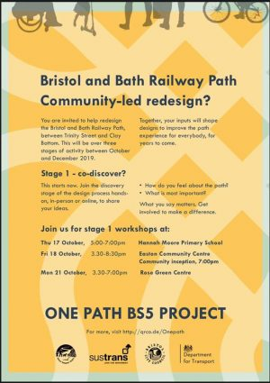Workshops on changes to the Railway Path – have your say!
