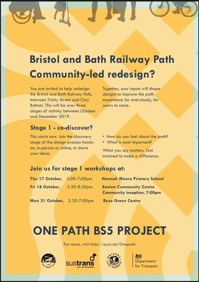 Workshops on changes to the Railway Path - have your say!