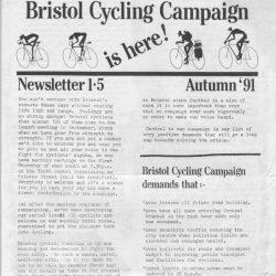 Bristol Cyclist magazine No.1 Summer 1991
