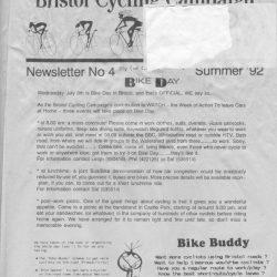 Bristol Cyclist magazine No.4 Summer 1992