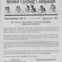 Bristol Cyclist magazine No.5 Autumn 1992