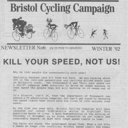 Bristol Cyclist magazine No.6 Winter 1992