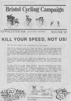 Bristol Cyclist magazine No.6 Winter 1992