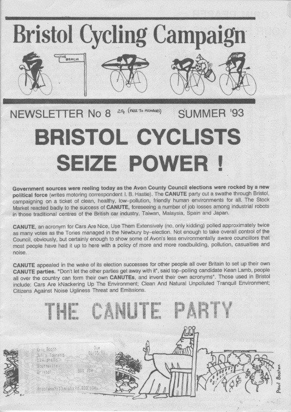 Bristol Cyclist magazine No.8 Summer 1993