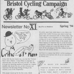 Bristol cyclist magazine No.11 Spring 1994