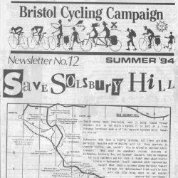 Bristol cyclist magazine No.12 Summer 1994