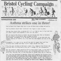 Bristol Cyclist magazine No.13 Autumn 1994