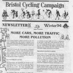 Bristol cyclist magazine No.14 Winter 1994