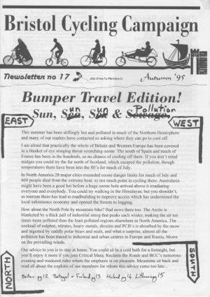 Bristol cyclist magazine No.17 Autumn 1995