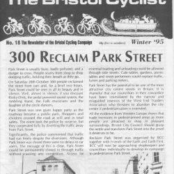 Bristol cyclist magazine No.18 Winter 1995