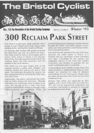 Bristol cyclist magazine No.18 Winter 1995