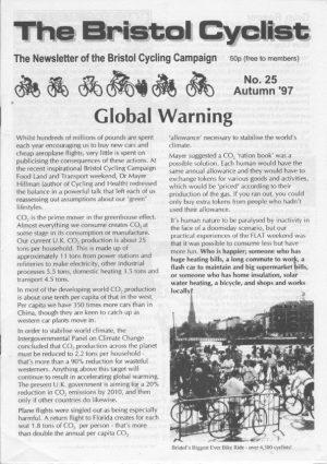 Bristol cyclist magazine No.25 Autumn 1997