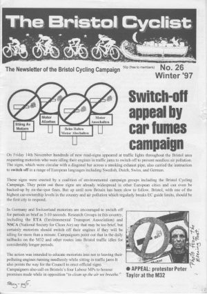 Bristol cyclist magazine No.26 Winter 1997
