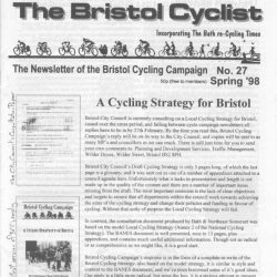 Bristol cyclist magazine No.27 Spring 1998