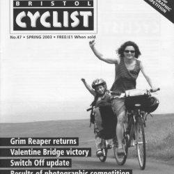 Bristol cyclist magazine No.47 Spring 2003