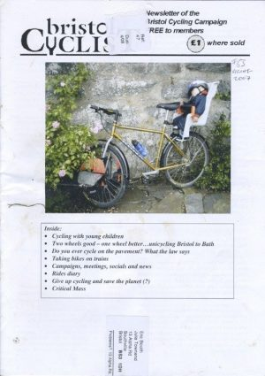 Bristol cyclist magazine No.63 Spring 2007