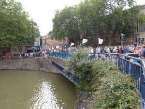 Critical Mass at Bristol Bridge
