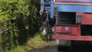 Here it's too easy to use the shared path as lorry parking