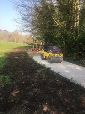 Missing link cycle path in Ashton Court nears completion