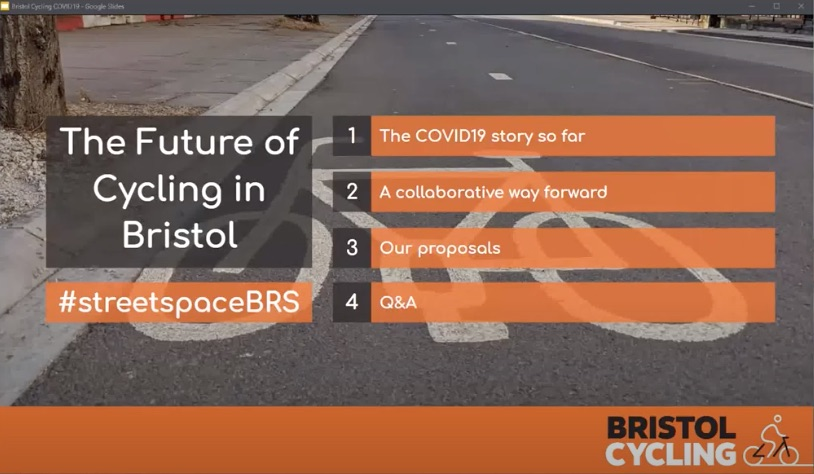 The Future of Cycling in Bristol - Webinar May 2020