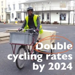 Double cycling rates by 2024 – our challenge to our next mayors